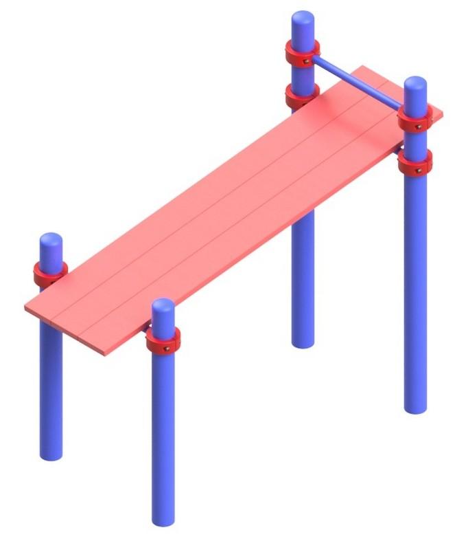 Купить Скамья гимнастическая с фиксацией ступней серии Воркаут Glav 14.200.20,