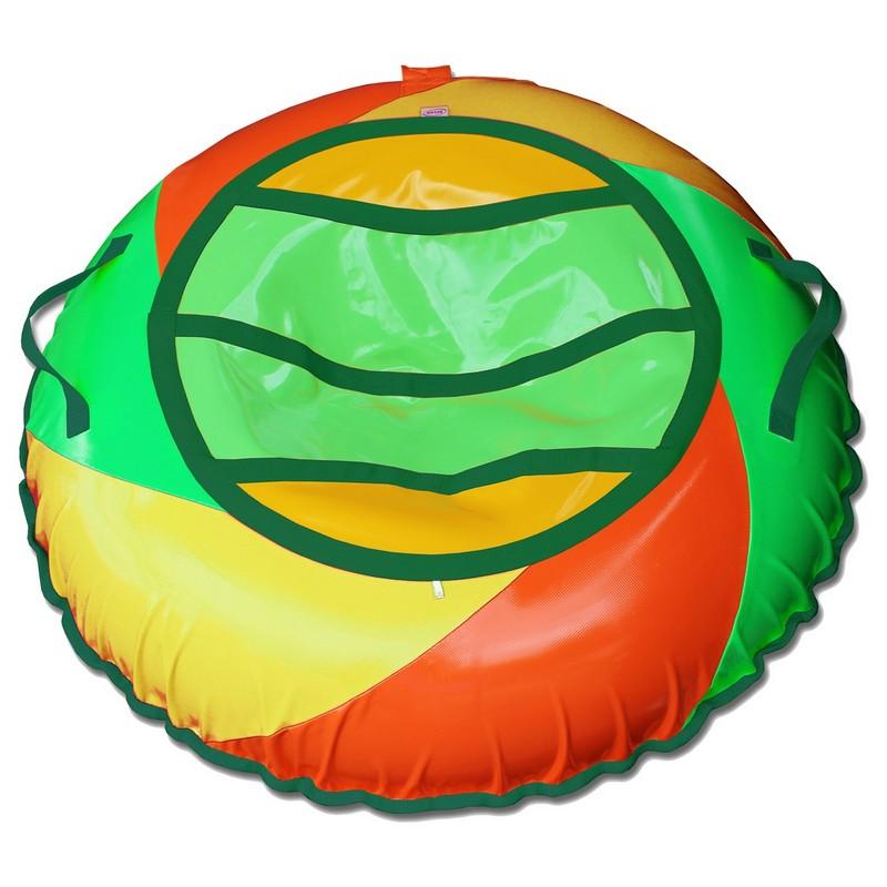 Тюбинг Belon Тент-спираль, 85 см, СВ-004-С1 зеленый-оранжевый-желтый тюбинг 1toy winx надувные сани 85см т59054