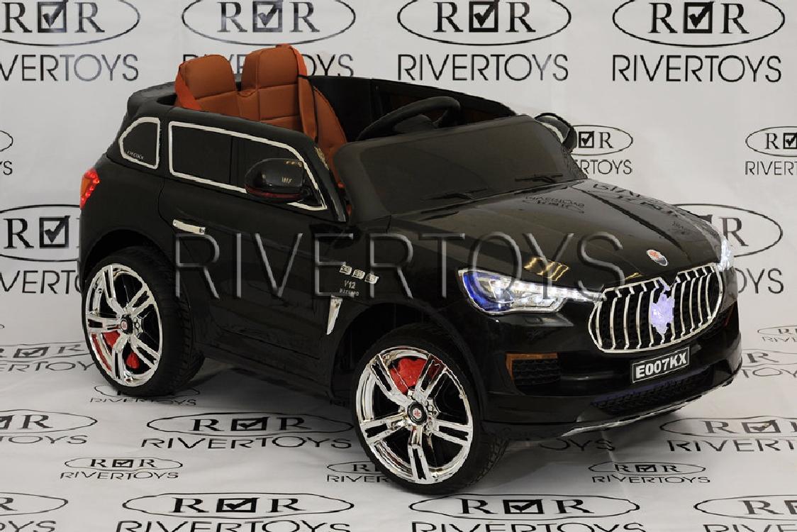 ЭлектромобильRiver-Toys Maserati E007KX черный с ДУ