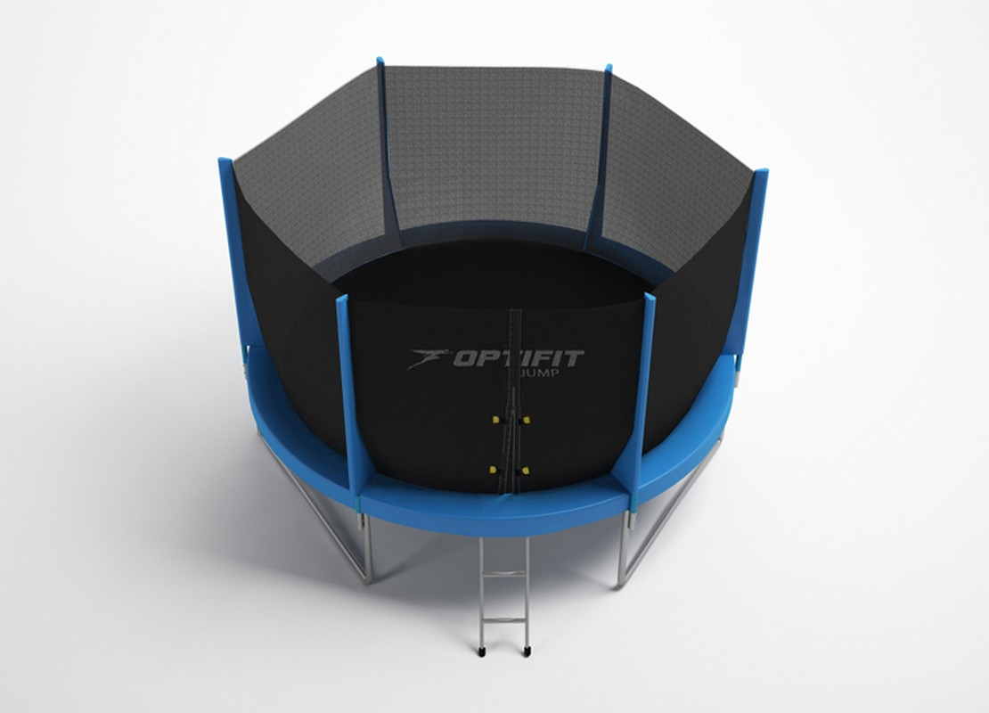 Батут Optifit Jump 16ft 4,88 м батут optifit like blue 16ft с крышей