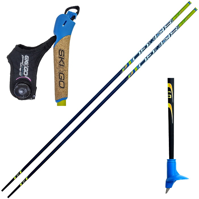 Лыжные палки Skigo (28) Racing Jr. Карбон 50%+Стекло 50% (желтый),  - купить со скидкой