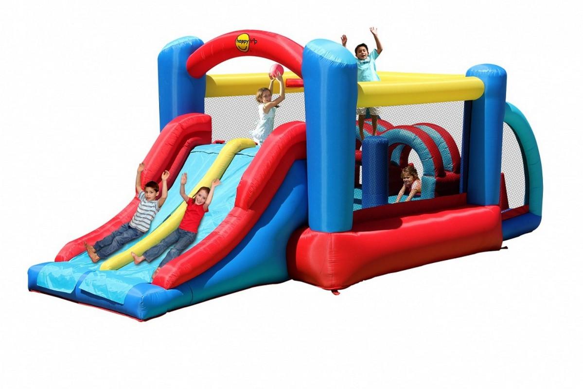Детский надувной Батут Happy Hop Неожиданные Препятствия 9163