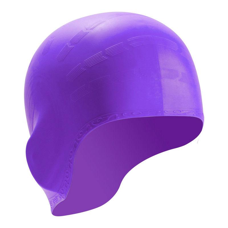 Купить Шапочка для плавания силиконовая B31514-7, фиолетовый, NoBrand