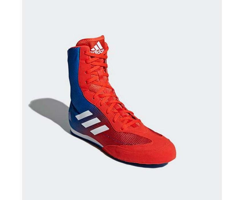 Боксерки Adidas Box Hog Plus красно-синие DA9896