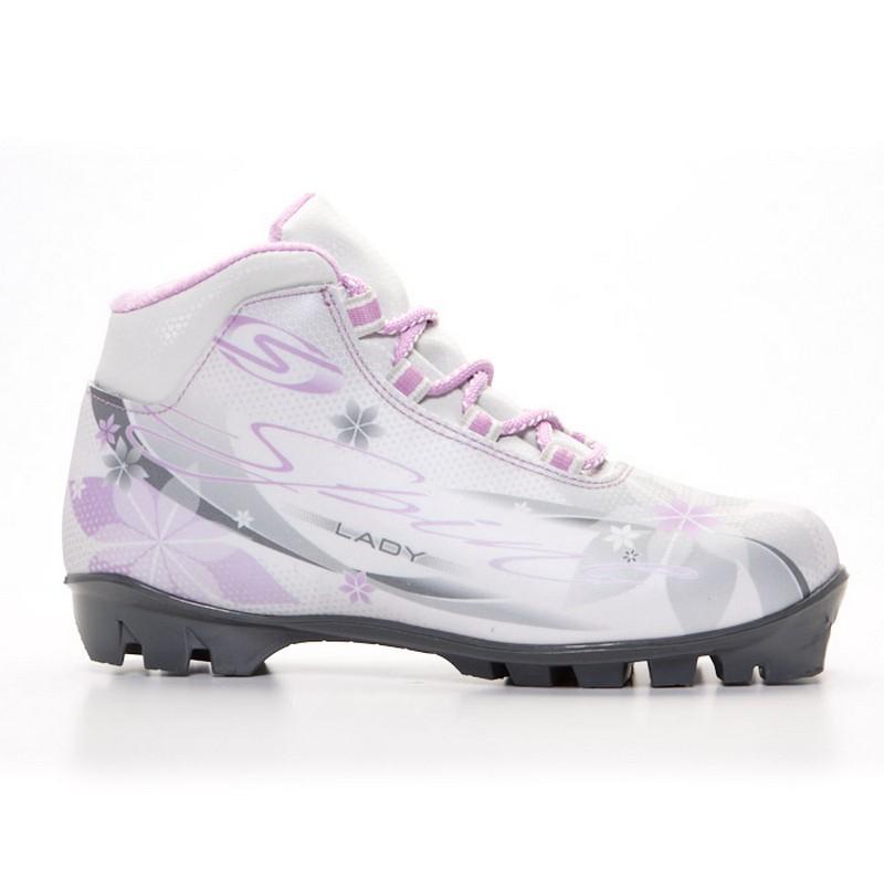 Купить Лыжные ботинки NNN Spine Lady 357/40 бело/сиреневый,