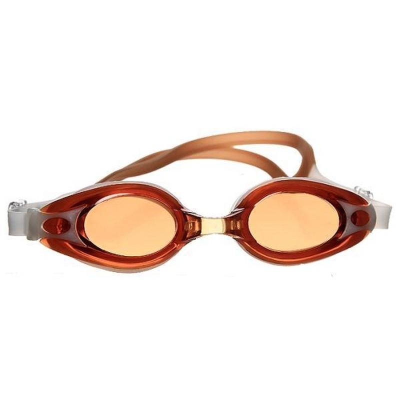 Очки для плавания Atemi M504 оранжевый-белый фото