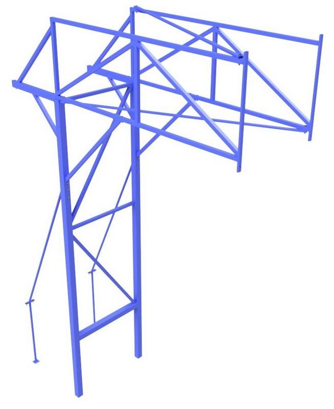 Купить Стойка баскетбольная стационарная с выносом щита 2,5 метра Glav 01.126,