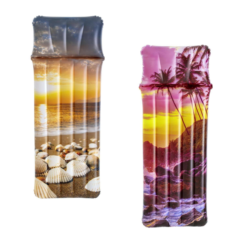 Купить Надувной матрас для плавания Bestway 183х71см Морской закат, до 90кг, 2 вида 43416,