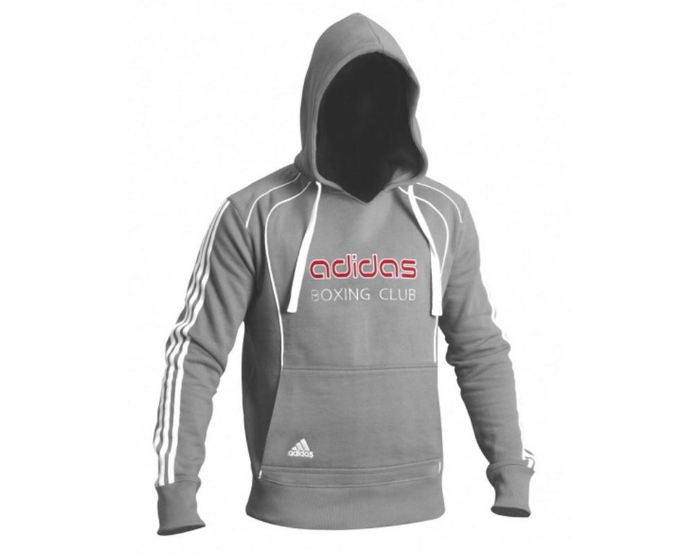 Толстовка с капюшоном Adidas Hoody Sweat Boxing Club серая adiTB091