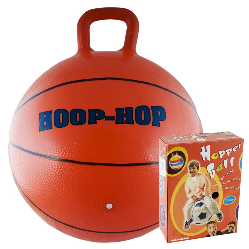 Мяч-попрыгун Хуп диаметр 50 см, оранжево-синий мяч попрыгун veld co с двумя ручками 50 см