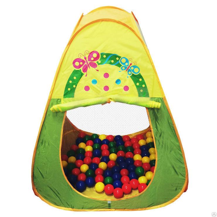 Игровой домик Квадратный + 100 шариков CBH-20