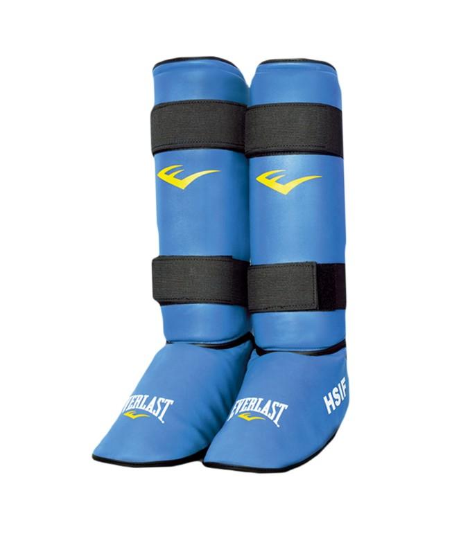 Защита голень-стопа Everlast HSIF RF7250 кожзам, синий