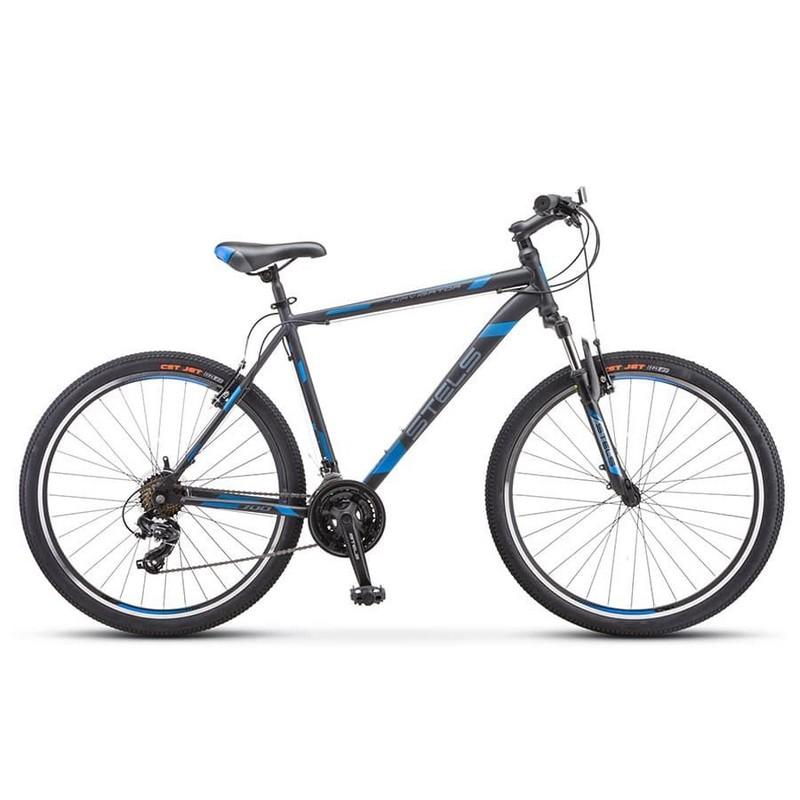 Купить Велосипед Stels Navigator 700 V F010 2019 ЧерныйСиний 27.5Ø (LU092627),