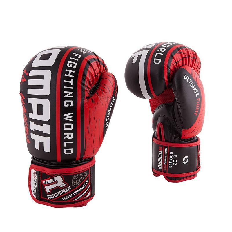 Купить Боксеркие перчатки Roomaif RBG-242 Dx Red 12 oz,