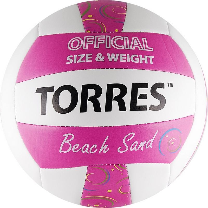 Купить Мяч волейбольный Torres Beach Sand Pink V30085B р.5,
