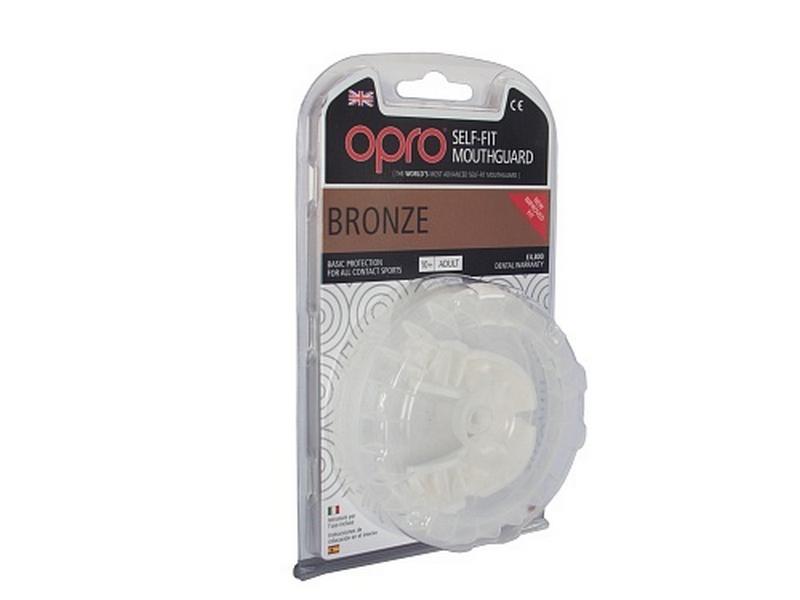 Капа OPRO Self-Fit GEN3 Bronze - White