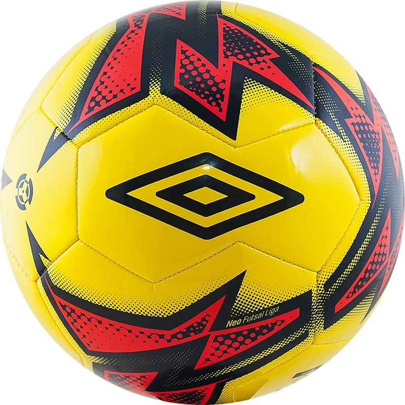 Мяч футзальный Umbro Neo Futsal Liga 20871U-FPZ р.4 мяч футзальный любительский р 4 umbro neo futsal liga 20871u fcy
