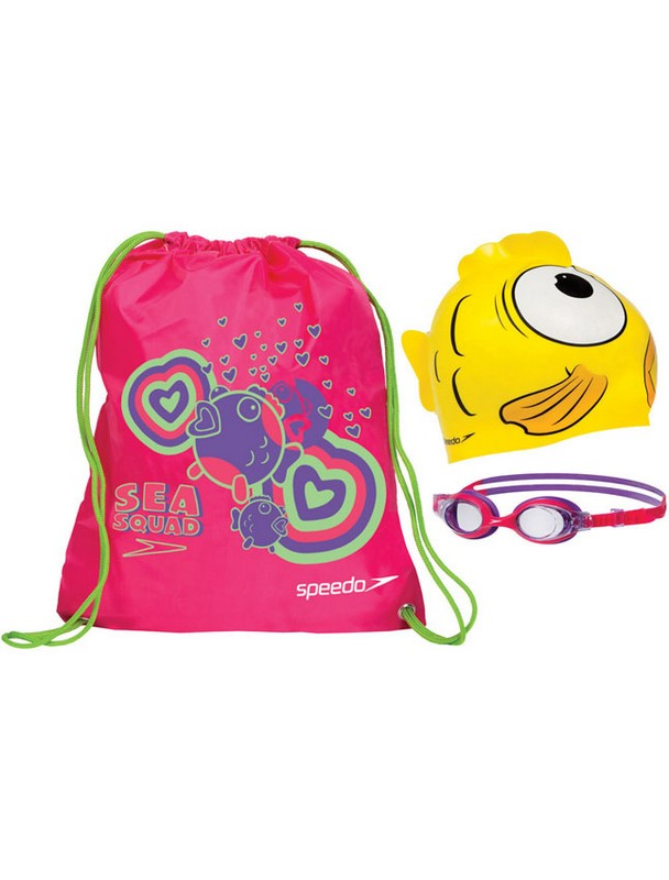 Набор для плавания Speedo Sea Squad Swim Bag Set 8-093047693 набор для плавания hello kitty hey32623 очки шапочка