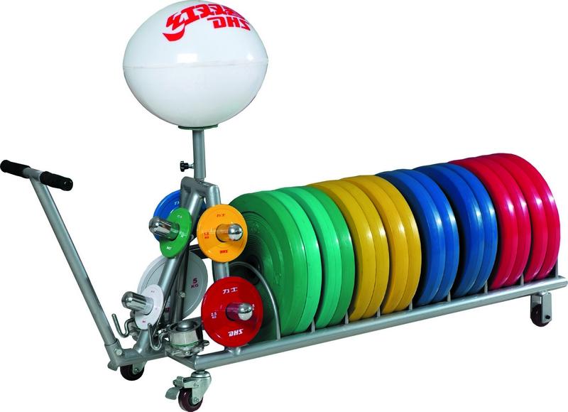 Купить Подставка для дисков, перекатная с ручкой контейнером магнезии DHS Olympic,