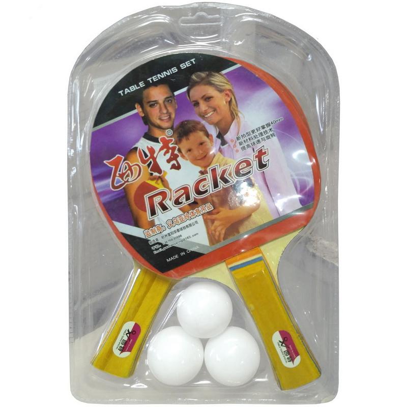 Купить Набор для настольного тенниса в блистере (2 ракетки, 3 шарика) H10112, NoBrand