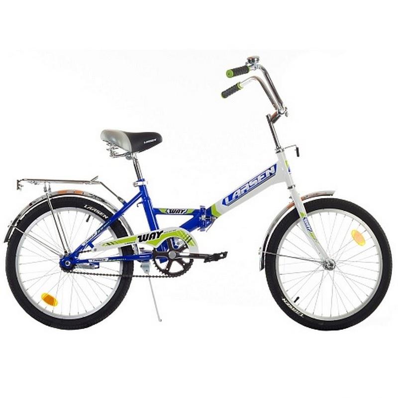 Велосипед Larsen Way 20 2017 синий/белый