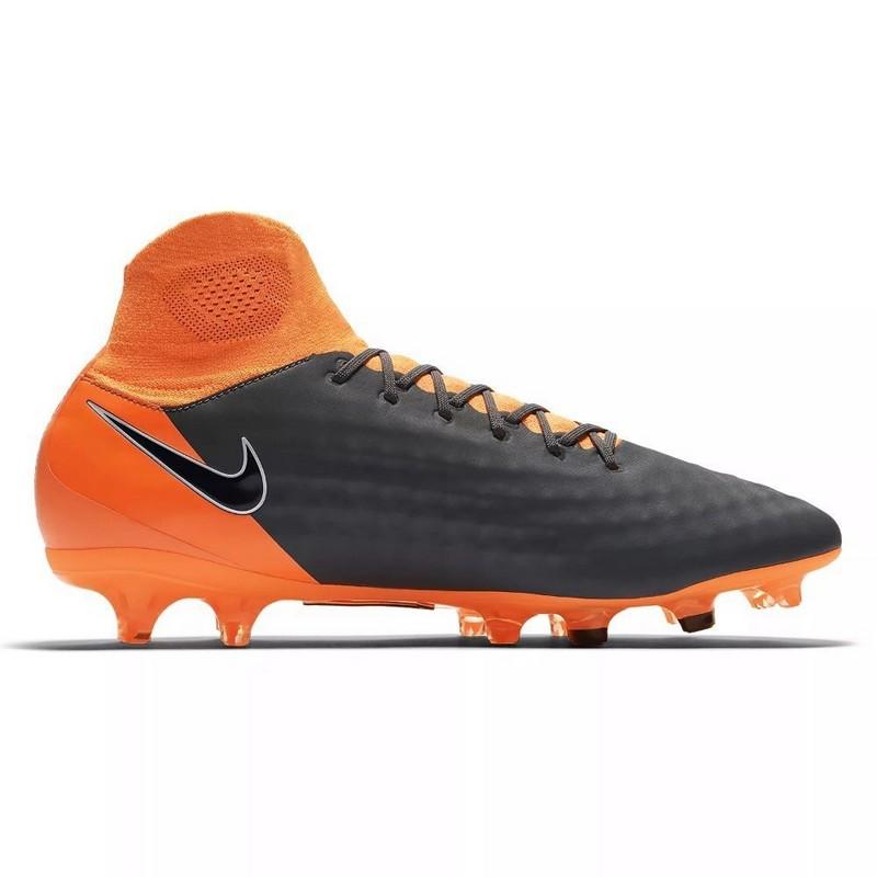 Бутсы футбольные Nike Obra II Pro DF FG Ah7308-080 SR сер/оранж