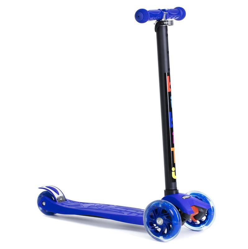 Купить Самокат детский BiBiTu тротинетка 3-х колесный CAVY SKL-07-BL синий,