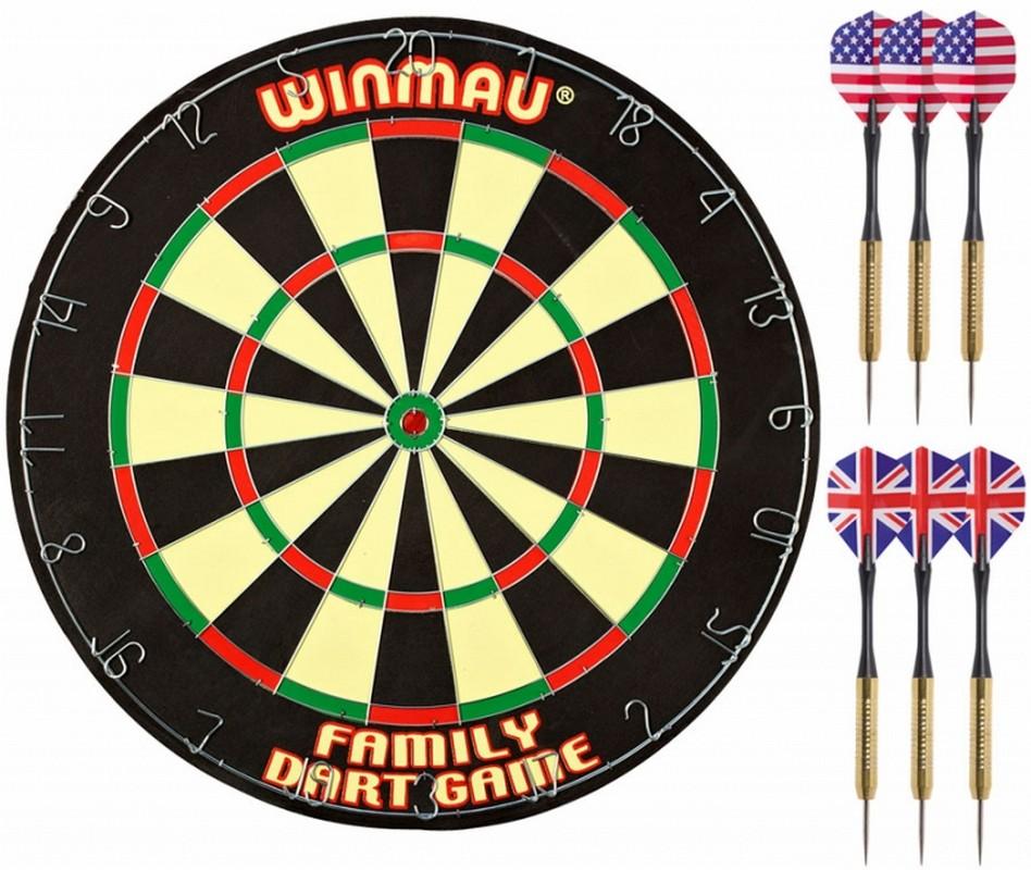 Купить Комплект для игры в Дартс Winmau Family Dart Game, Мишени для дартса
