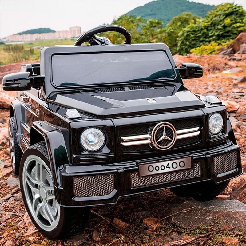 Купить Электромобиль River-Toys O004OO-VIP Black glanec, Детские электромобили