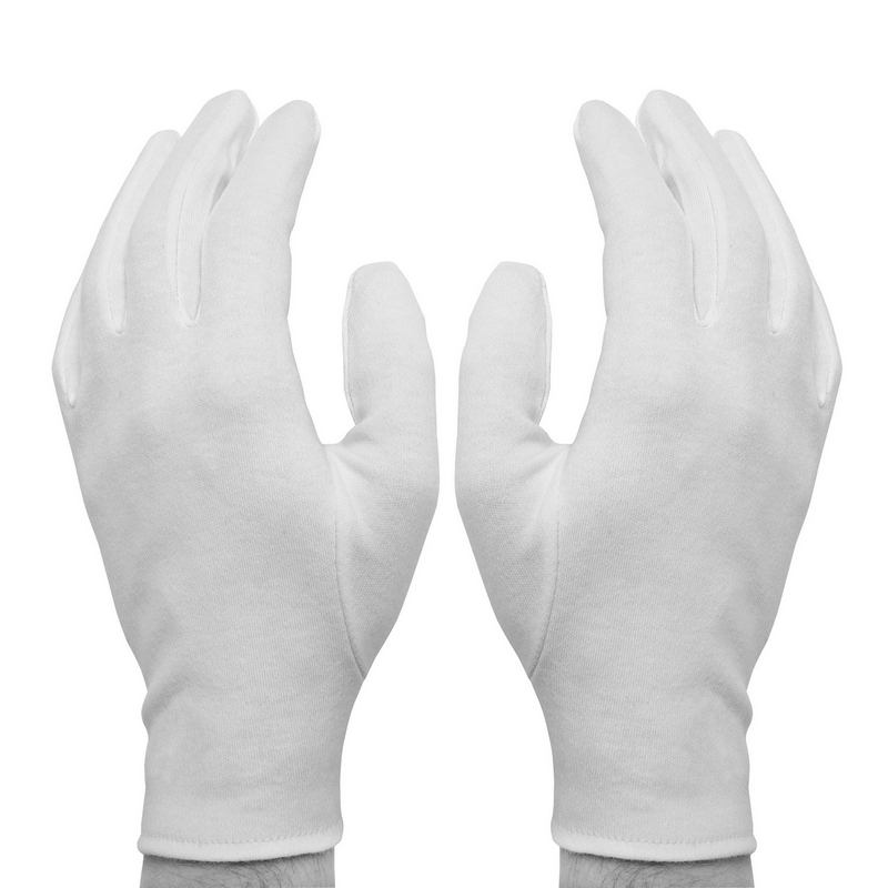 Перчатки р.M Fortuna Referee пятипалые белые 2шт.