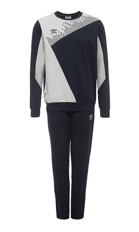 Костюм спортивный Umbro Armada Cotton Suit мужской 350115 (891) св.серый/т.син/бел.