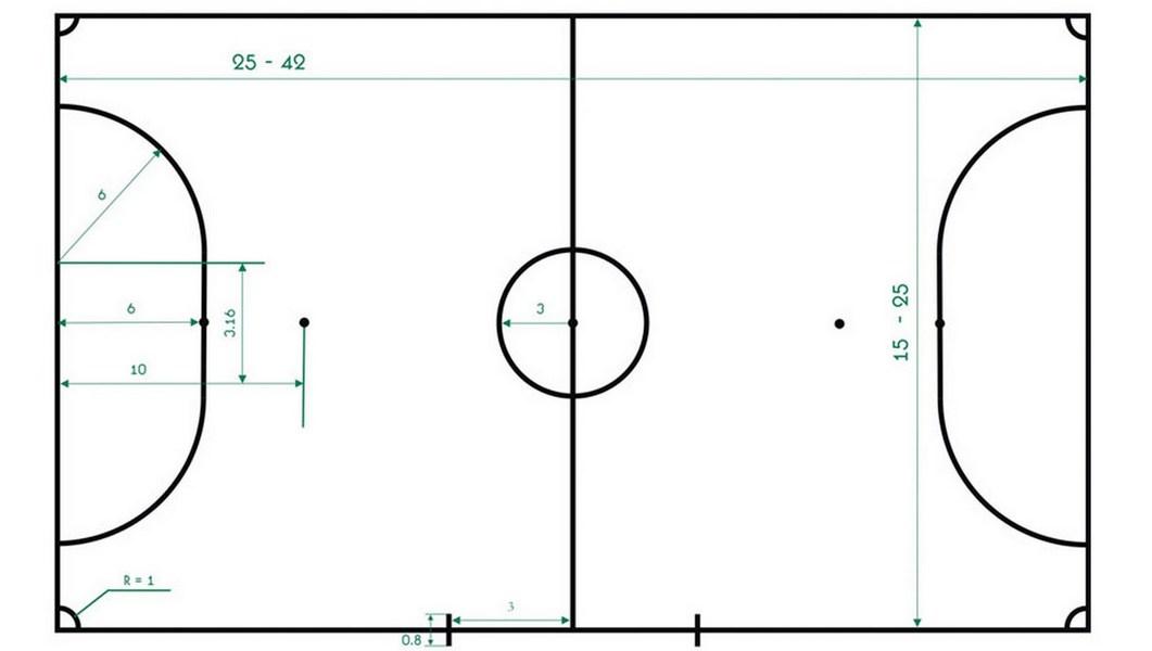 Разметка игрового поля мини-футбол