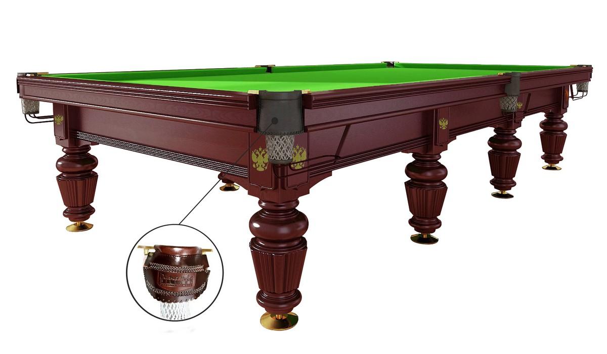 Бильярдный стол для русского бильярда Dynamic Noble 12 ф махагон