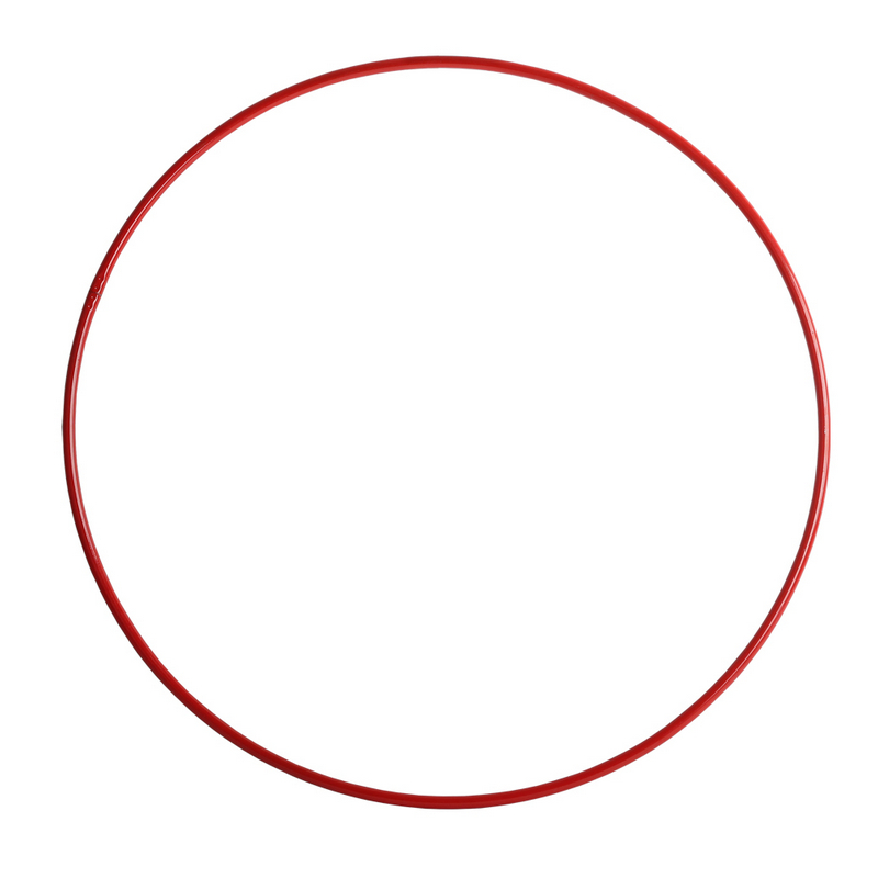 Обруч гимнастический 900мм красный