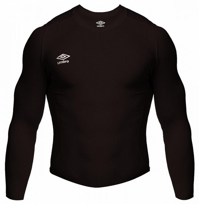 Терморубашка Umbro Core LS High Neck Baselayer мужская (060) черная