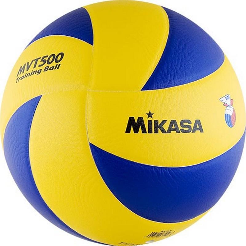 Мяч волейбольный Mikasa MVT500 №5 фабрика прямая кровать mikasa 1 8 м специальный весенний матрас юбка покрывало простыни защиты пакета почты в убыток