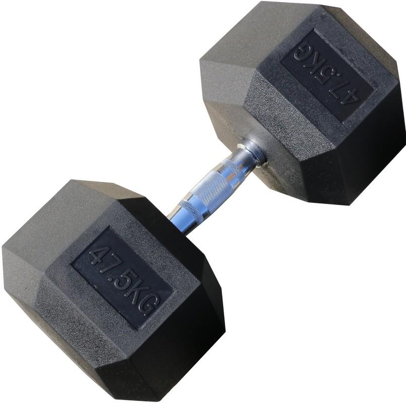 Гантель гексагональная обрезиненная Iron King 47,5 кг гантель 47 5 кг hyperset db139