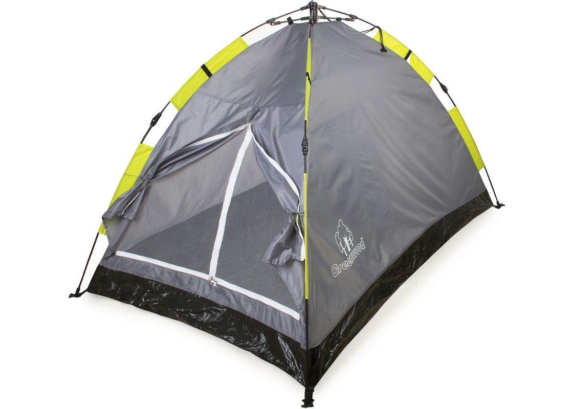 Палатка двухместная Greenwood Mat-192-2 серый\зеленый