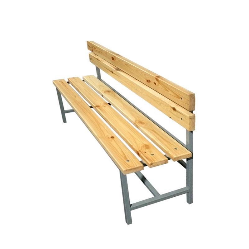 Купить Скамейка для раздевалки со спинкой 1500 мм сиденье из дерева Dinamika ZSO-002185,