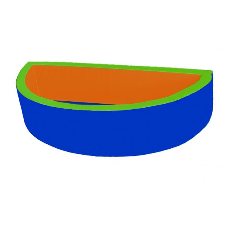 Купить Сухой бассейн полукруглый 2000х1000х500х100 мм Dinamika ZSO-003039, Сухие бассейны
