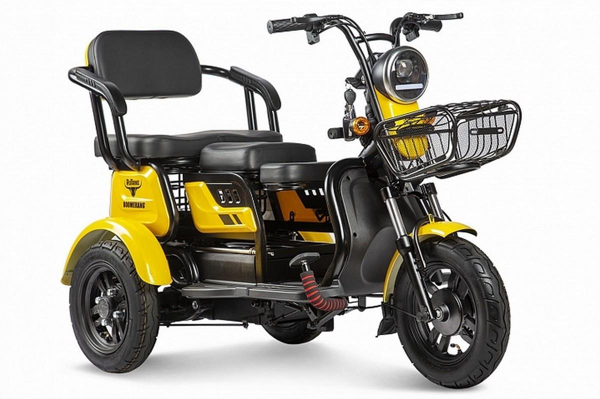 Купить Пассажирский трицикл RuTrike Бумеранг 022656-2338 желтый,