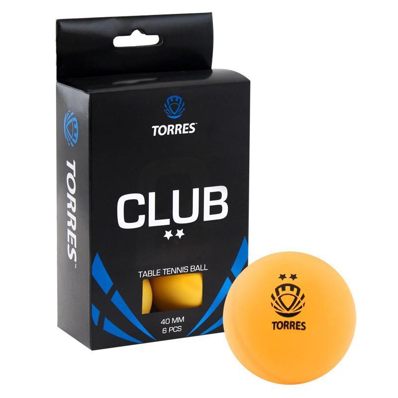 Мячи для настольного тенниса Torres Club 2* 6 шт