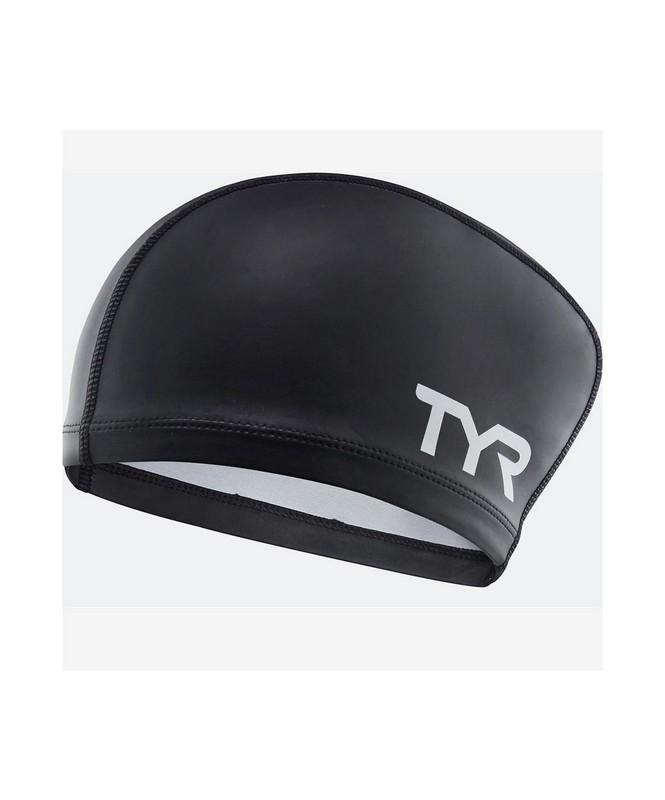 Купить Шапочка для плавания TYR Long Hair Silicone Comfort Swim Cap, силикон, LSCCAPLH01 черный, Tyrolia