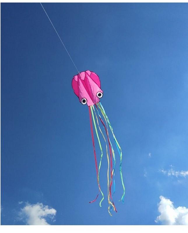 Купить Воздушный змей Bradex Осьминог DE 0441 фиолетовый,