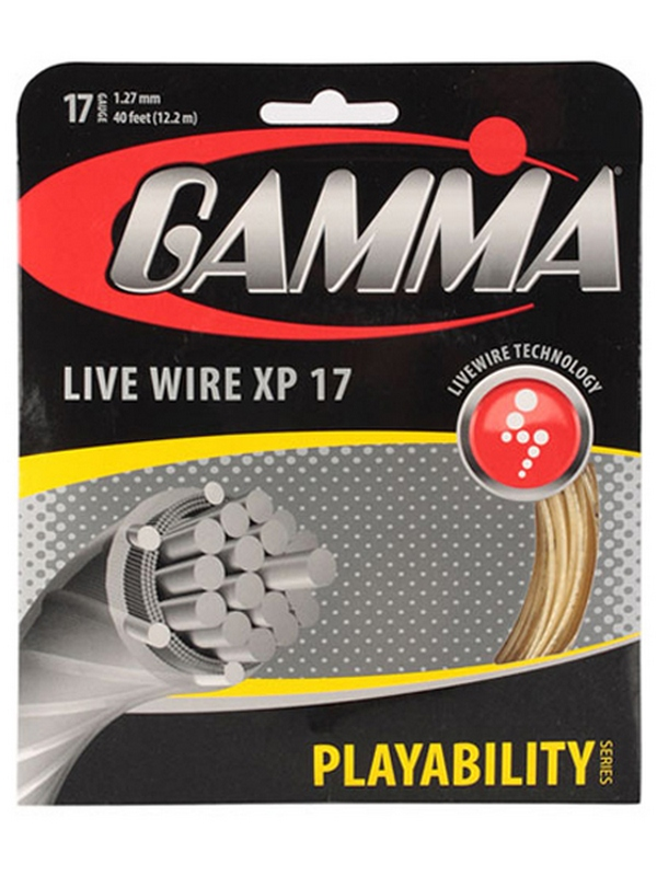 Теннисная струна Gamma Live Wire XP 17 (Natural, Black) 1 натяжка