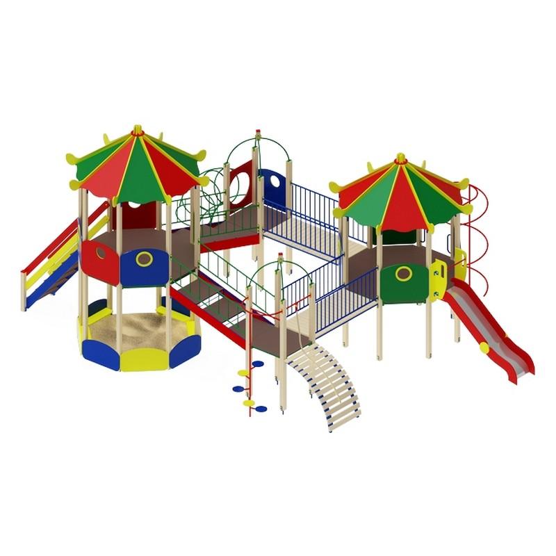 Купить Детский игровой комплекс Карнавал горкаН1200МАФ959х788х523 см ДИК2206, МАФ