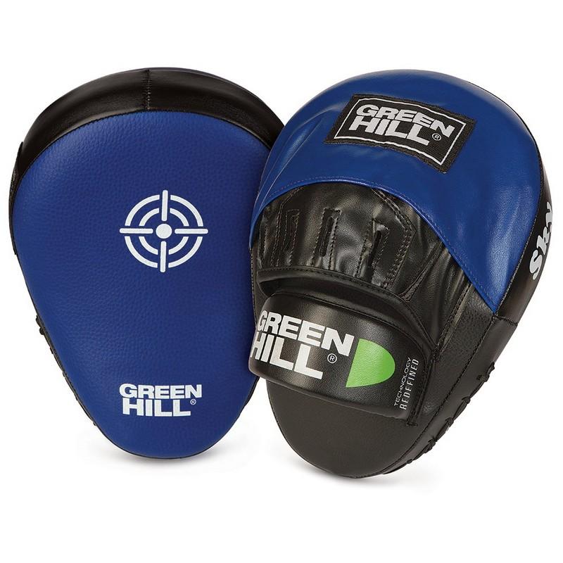 Лапы боксерские Green Hill Sky FM-5043, иск. кожа ПУ, изогнутые, черно-синие сумка printio привидение каспер