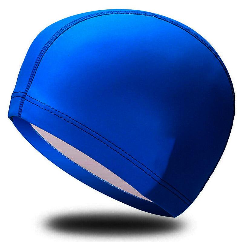 Купить Шапочка для плавания одноцветная B31516-1 (Синий), NoBrand