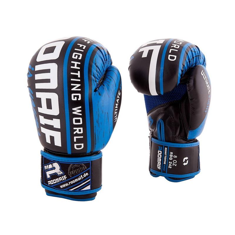 Купить Боксеркие перчатки Roomaif RBG-242 Dx Blue 10 oz,