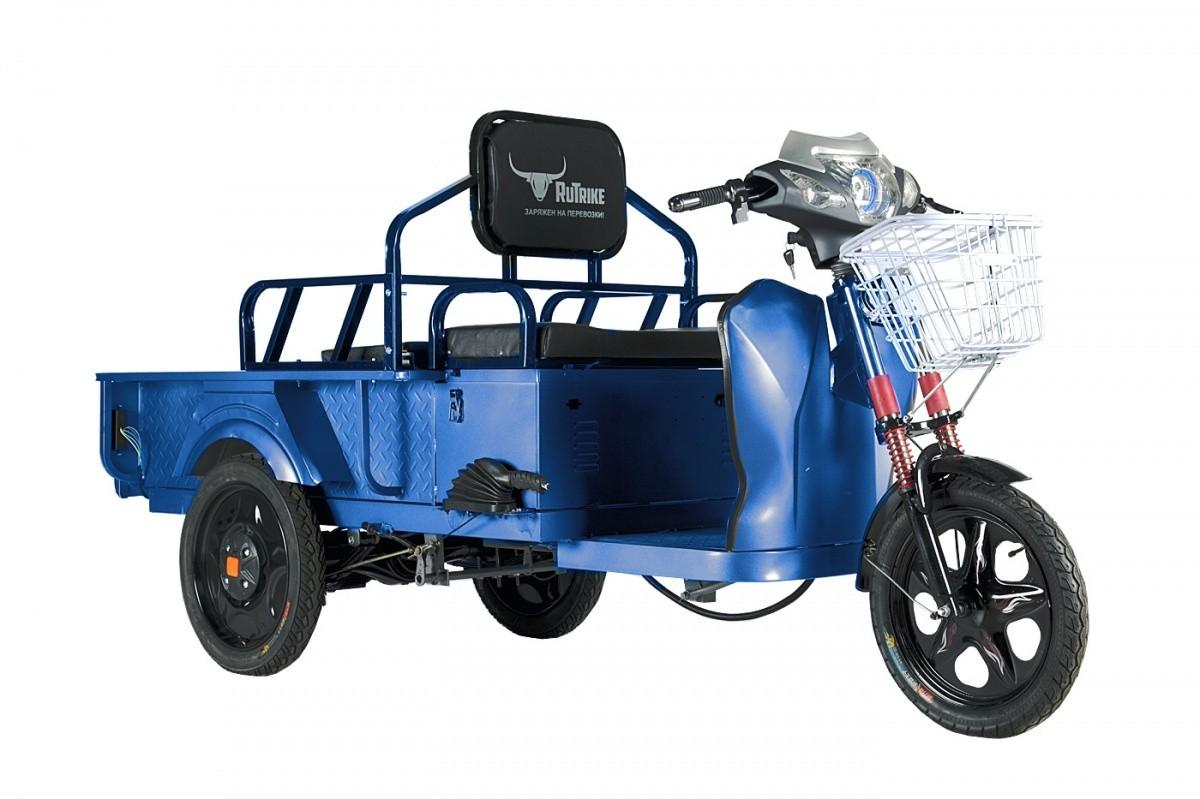 Грузопассажирский трицикл RuTrike D1 ГП 1200 синий